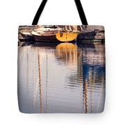 Subtle Colored Marina Reflections Tote Bag