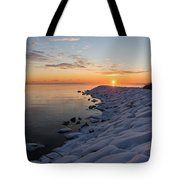 Subtle Pinks And Golds And Violets In A Bright Sunrise Tote Bag