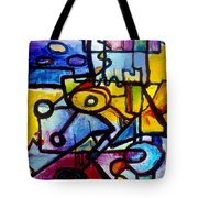 Suburbias Daily Beat Tote Bag by Regina Valluzzi