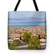 Suburbs And Lake Mead With Surrounding Tote Bag