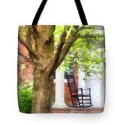 Suburbs - Rocking Chair On Porch Tote Bag