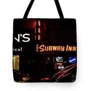 Subway Inn Bar - Vanishing Places Of New York Tote Bag