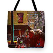 Subway - Late Afternoon Rush On A Cold Day Tote Bag