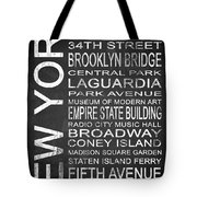 Subway New York 3 Tote Bag