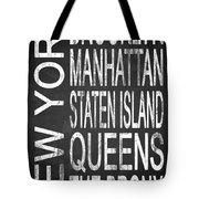 Subway New York 4 Tote Bag