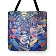 Subway Nyc, 1994 Oil On Canvas Tote Bag