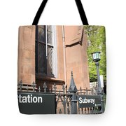 Subway Station In Brooklyn Tote Bag