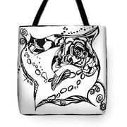 Succulent Stream Of Consciousness Tote Bag by Beverley Harper Tinsley