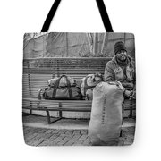 Such A Long Journey Bw Tote Bag