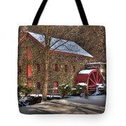 Sudbury Wintery Grist Mill Tote Bag