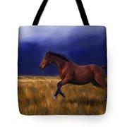 Galloping Horse Painting Tote Bag