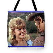 Sue Green Mark Slade The High Chaparral 1966 Pilot Screen Capture Collage 1966-2012 Tote Bag