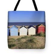 Suffolk Beach Huts Tote Bag