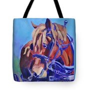 Suffolk Punch Draft Horse Plow Match Tote Bag
