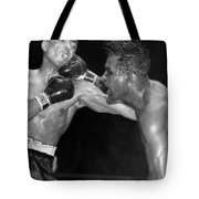 Sugar Ray Throws A  Right Tote Bag by Underwood Archives
