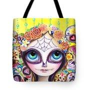 Sugar Skull Princess Tote Bag