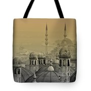 Suleymaniye Mosque And New Mosque In Istanbul Tote Bag by Ayhan Altun