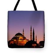 Suleymaniye Sundown 03 Tote Bag by Rick Piper Photography
