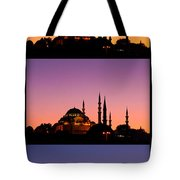Suleymaniye Sundown Triptych 04 Tote Bag by Rick Piper Photography