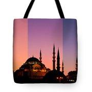 Suleymaniye Sundown Triptych 05 Tote Bag