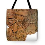 Sumerian Map, Clay Cuneiform Tablet Tote Bag