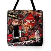 Sumi-e Styled Coca Cola Signs Tote Bag
