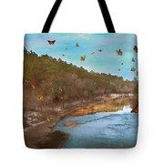Summer At The River Tote Bag