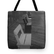 Summer Benches Seaside Heights Nj Bw Tote Bag by Joann Renner