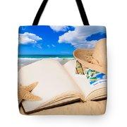 Summer Book Tote Bag