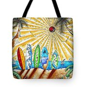 Summer Break By Madart Tote Bag by Megan Duncanson