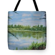 Summer By The River Tote Bag