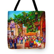 Summer Cafes Tote Bag