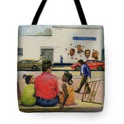 Summer City Stoop Tote Bag by Colin Bootman