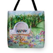 Summer Concert In The Park Tote Bag