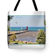 Summer Day At South Haven Mi Tote Bag