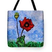 Summer Day Poppy Tote Bag