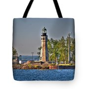 Summer Day View Of The Lighthouse  Tote Bag
