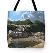 Summer Evening Clovelly North Devon Tote Bag