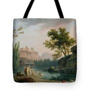 Summer Evening Landscape In Italy Tote Bag