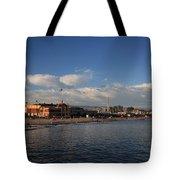 Summer Evenings In Santa Cruz Tote Bag by Laurie Search