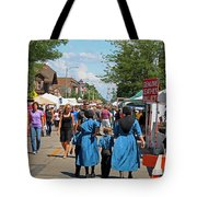 Summer Festival In Berne Indiana Tote Bag by Suzanne Gaff