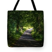 Summer Forest Road Tote Bag