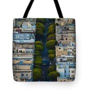 Summer Green On Lombard Street Tote Bag