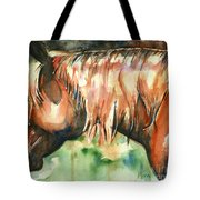 Horse Painting In Watercolor Summer Horse Tote Bag