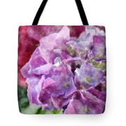 Summer Hydrangeas With Painted Effect Tote Bag