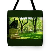 Summer In Central Park Manhattan Tote Bag