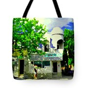 Summer In Psc Pizza At Connie's Pizzaria And Hamburgers City Scene Sud Ouest Montreal Carole Spandau Tote Bag
