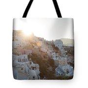 Summer In Santorini Tote Bag