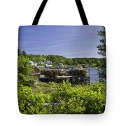 Summer In South Bristol On The Coast Of Maine Tote Bag