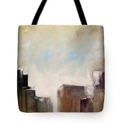 Summer In The City Abstract Geometric Original Painting On Canvas Tote Bag